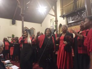 The Martin Luther King Jr. Celebration Choir performs at last Wednesday's 52nd Annual Reverend Dr. Martin Luther King, Jr. Celebration, held on the iconic figure's actual birthday, and sponsored by The Christian Ministerial Fellowship of Newburgh & Vicinity.