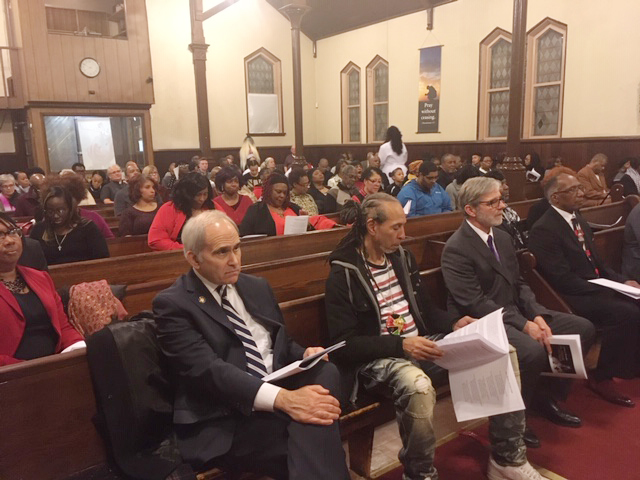 Several local, political dignitaries were on hand, seated in the front row at last Wednesday's 52nd Annual Reverend Dr. Martin Luther King, Jr. Celebration, sponsored by The Christian Ministerial Fellowship of a Newburgh & Vicinity.