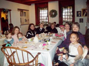 Attendees at last Monday's Annual Mount Gulian Holiday Tea-for adults and their children/grandchildren-family members- enjoy the popular event that celebrates a popular custom of the past as well as an assortment of other traditional, educational and fun opportunities.
