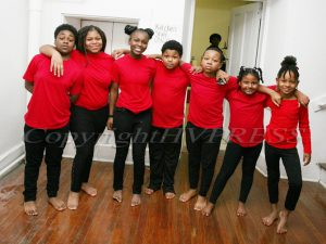 New Beginners Praise Dancers performed as part of the Cultural Expression portion of the Black History Committee of the Hudson Valley Annual Kwanzaa Celebration on Sunday, December 29, 2019 at Mt. Calvary Fire Baptized Church in Newburgh, NY. Hudson Valley Press/CHUCK STEWART, JR.