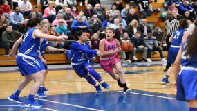 The Mount Saint Mary College Women's Basketball team pushed its winning streak to four on Saturday as the Knights defeated Skyline foe St. Joseph's-Brooklyn 63-53 on the road at the Hill Center. Junior Morina Bojka and senior Lyndsay Pace both registered double-digit points for the Mount in the victory.