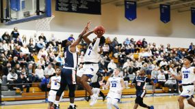 The Mount Saint Mary College Men's Basketball team got back into the win column with a 70-49 win over visiting Maritime on Saturday afternoon.