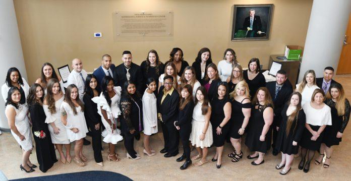 Mount Saint Mary College pinned 35 nurses on Saturday, December 14. Photo: Lee Ferris