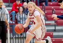 Powered by points from across the lineup, the Vassar College women's basketball team rebounded for a 75-38 win over Castleton University at the Naples Shootout on Monday afternoon. The victory moves the Brewers to 6-4 on the season, while the Spartans are now 6-5 overall. Photo: C. Stockton