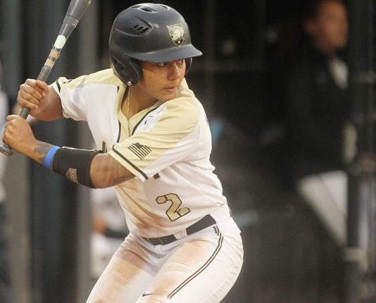 Taylor Drayton had a multi-hit game as the Army West Point softball bested Charleston Southern, 9-2.