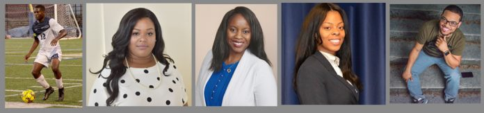 Hope Tangunu, Jasmin Nicole Davis, Dr. Karri E. Hester, Satara Brown and Reverend Todd Snead.