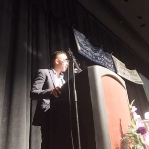 Guest Speaker, Edward Summers, PhD, addresses the large crowd at Friday's 29th Annual Martin Luther King Jr. Breakfast, hosted by the Catharine Street Community Center, and held at Poughkeepsie's Civic Center.
