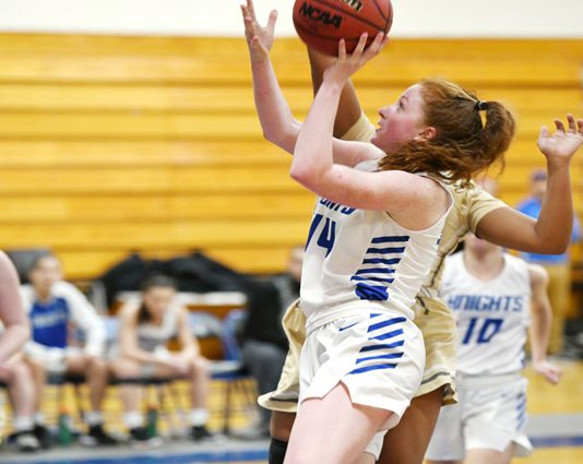 Sophomore Annie Keenan recorded her seventh double-double of the season in the defeat.