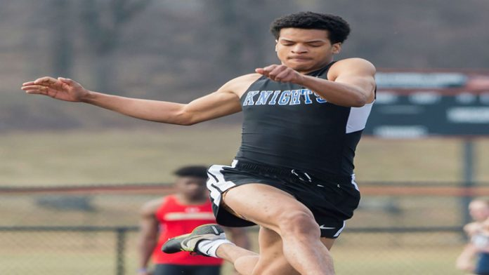 Mount Junior Dabein Walker finished third in the High Jump at 1.88 meters for the Knights.