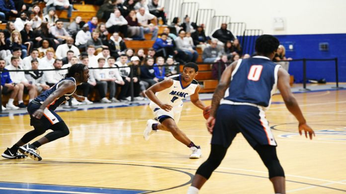 Senior Kendall Francis led the Mount with 12 points in the loss against Manhattanville.