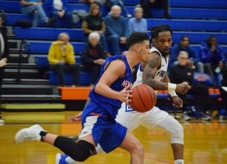 The State University of New York at New Paltz struggled limiting visiting Fredonia State in the second half Saturday and saw its early 16-point lead disappear after allowing the Blue Devils 50 points in the final 20 minutes, which ultimately resulted in a 86-72 loss.