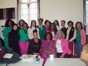Members of the AKA Iota Alpha Omega Chapter of Sorority Sisters were on hand helping serve lunch at Monday's 42nd Annual Reverend Dr. Martin Luther King, Jr. Birthday Celebration, held at Beacon's Springfield Baptist Church.