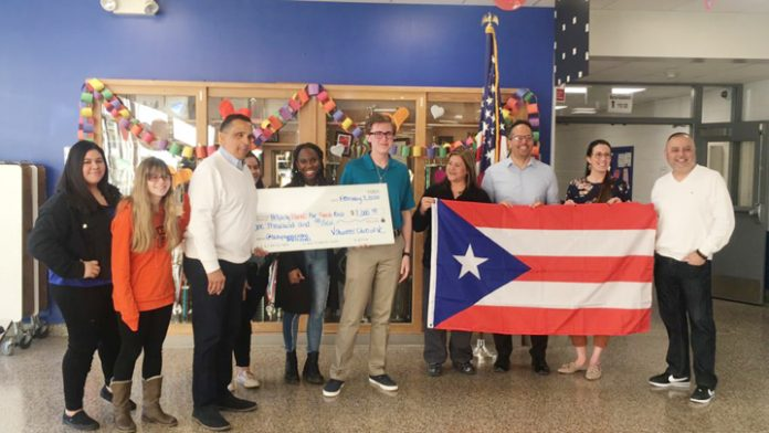 Students at Valley Central High School in Montgomery didn't waste any time to snap into action and raise money for Puerto Rico aid following the recent earthquake on the island.