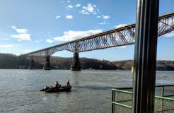 The body of an 18-year-old City of Poughkeepsie man who went under while in the Hudson River off the city on Monday afternoon, March 9, has yet to be discovered.