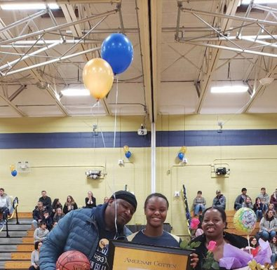 The Newburgh Free Academy Varsity Girls Basketball Team recognizes their seniors. 12th grade athletes and their families were celebrated last week before a game.