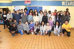More than 30 Washingtonville Middle School students received Sojourner Truth Awards during a county-wide ceremony held at SUNY Orange on March 6. In addition to the official event, Washingtonville Middle School held an in-school ceremony to celebrate the students' continued hard work.