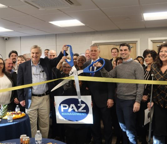 Commemorating the launch of a unique PILOT program at its affiliate, Dutchess Care Assisted Living in Poughkeepsie, NY, PAZ Management, Inc. teamed with the Dutchess County Regional Chamber of Commerce to host a ribbon cutting.