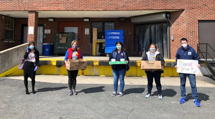 The Newburgh Teachers Association (NTA) in partnership with Anna's Restaurant donated food to the physicians, nurses and medical staff of Montefiore St Luke's Cornwall Hospital in Newburgh, New York.