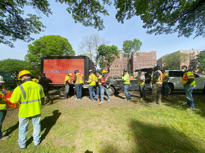 ny state laborers local 60 delivers meals to workers hudson valley press ny state laborers local 60 delivers