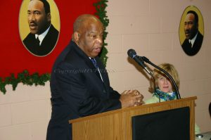John Lewis spoke about the 1965 Selma march he led during a visit to Newburgh in 2016. Lewis was perhaps the last remaining voice of moral authority from the civil rights era. Voting rights remains a challenge in the U.S. Lewis was on the front lines of that effort which was resisted by white racists in the South attempting to stifle Black voting power for decades. Hudson Valley Press File/CHUCK STEWART, JR.