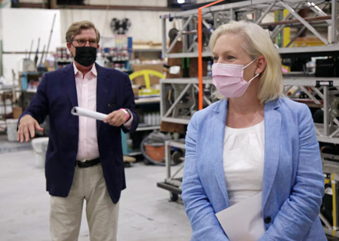 Last week, U.S. Senator Kirsten Gillibrand visited PRG Scenic Technologies and called for legislation to invest in workforce training and technical education in response to the COVID-19 crisis.
