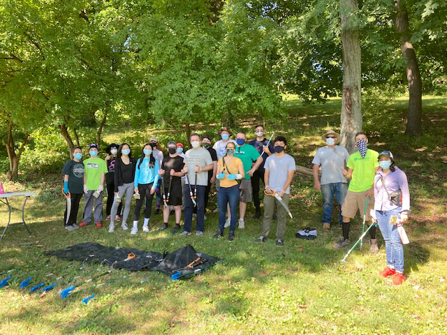 12 summer interns for Senator James Skoufis, community volunteers and members from Outdoor Promise joined forces Saturday for a few hours to help beautify City of Newburgh's Downing Park. The crew also intends to clean up two other Newburgh Parks: Xavier Lunan and Muchaetto Shadows Lake, this month.