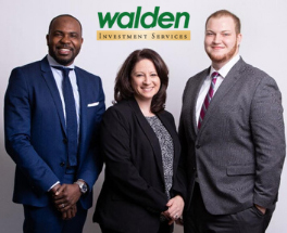 Walden Investment Services team (from left to right): Walden Investment Services VP and Financial Advisor Garry Michel, CFP®, AIF®, Financial Advisor Dawn Sweed, and Sales Assistant Jonathan Sutter.