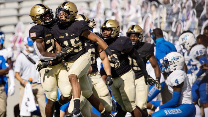 The Army West Point football team held nothing back in its home opening victory against Middle Tennessee State.