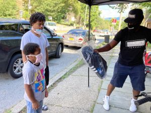 Saturday afternoon, blacc vanilla cafe in the City of Newburgh held their Second Annual Bike Giveaway, which included a host of bike essentials, such as repair kits, locks and lights as well as book bags and socks for the start of the school year.