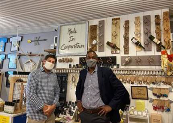 U.S. Representative Antonio Delgado (NY-19) visited Cooperstown and stopped by small businesses in the area.