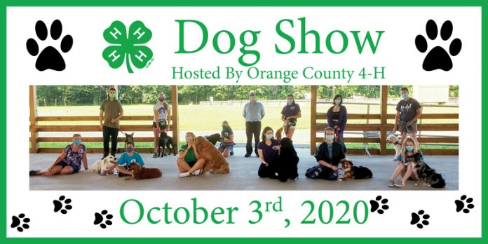 Cornell Cooperative Extension Orange County's 4-H Youth Development Program will be hosting a Dog Show on Saturday, October 3rd at the Education Center & 4-H Park located at 300 Finchville Turnpike in Otisville, NY.