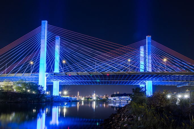 Landmarks across the state were lit in blue Saturday in recognition of Justice Ruth Bader Ginsburg. Blue is the color of justice and reportedly Justice Ginsburg's favorite color.