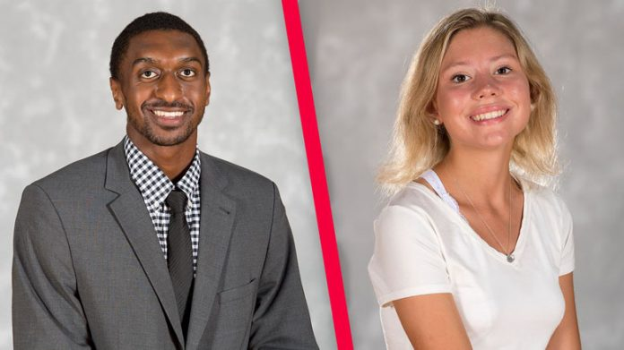 Jordan Jones (left) and Sara Leavens (right) were named Student-Athletes of the Month for October by Marist's Center for Student-Athlete Enhancement (CSAE). Leavens is a junior from Avon, Connecticut who is part of the Red Foxes' cross country and track & field teams.