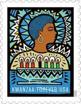 The U.S. Postal Service continues to celebrate Kwanzaa, which honors the values and beliefs around African American heritage, by dedicating a new Kwanzaa stamp.