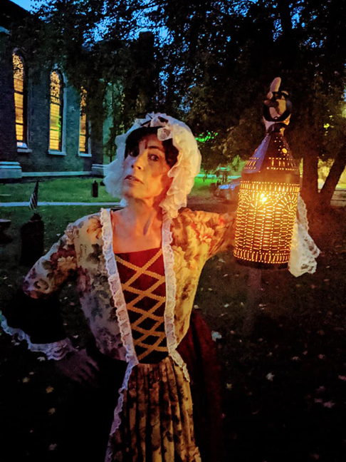 "This month Theatre on the Road and the Old Dutch Church in Kingston have been presenting their sixth annual ""living history"" tours on Saturday nights in the cemetery of the church."