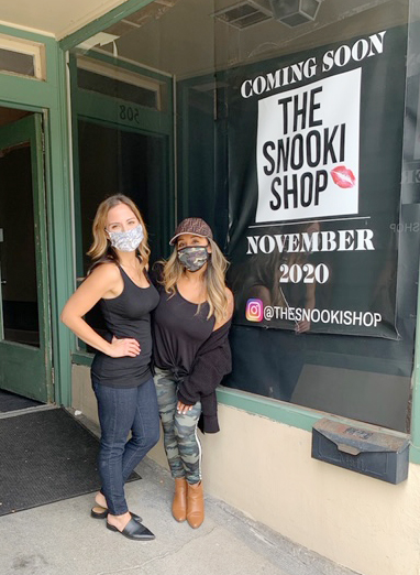 """From left are long-time childhood friends, Stephanie Rodrigues and Nicole Elizabeth LaValle (better known as """"Snooki"""" from the reality series Jersey Shore.) On November 1, 2020 the second Snookie Store opened, this one on Main Street in the City of Beacon, where Rodrigues will be overseeing it as manager and Snooki will be heavily involved in its operation."""