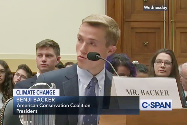 Benji Backer and other young Republicans started the American Conservation Coalition in 2017 to merge their conservative and conservation values.