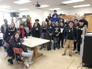Jose Cuacuas at his first mentoring event at NFA. Jose graduated from the P-TECH program at Newburgh Free Academy in 2018 with an associate degree in cybersecurity, satisfied that out of the many solutions he could have chosen, he made the right choice.