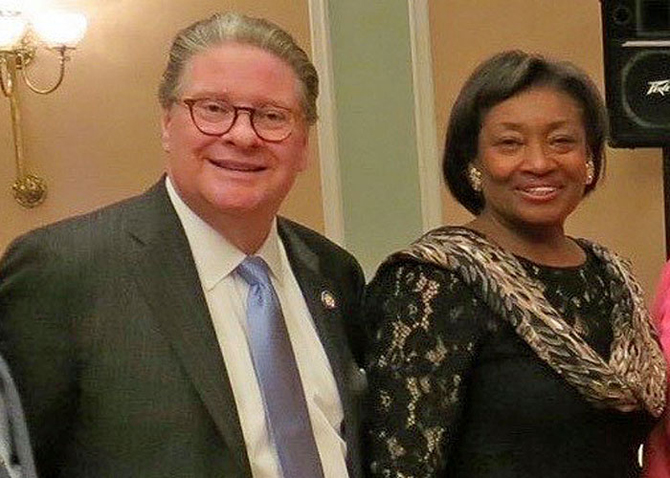 State Senator Pete Harckham (D, Peekskill) [left] has won re-election for a second two-year term representing the 40th District. Senate Majority Leader Andrea Stewart-Cousins (D, Yonkers) [right] said Harckham has earned this re-election.