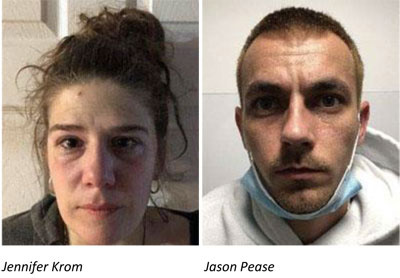 Jennifer Krom, who was arrested along with Jason Pease earlier this month in what Ulster County law enforcement said followed an investigation into sales and trafficking of heroin and fentanyl in northern Ulster, is a teacher in the Enlarged Newburgh City School District.