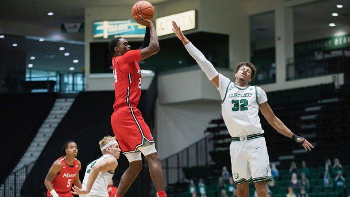 Marist Red Fox Braden Bell had 16 points and eight rebounds. Photo: Jonathan Cohen/Binghamton