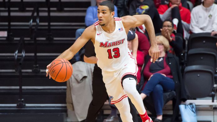 The Marist men's basketball team defeated Canisius, in a Metro Atlantic Athletic Conference game on Saturday night at the Koessler Athletic Center. Pictured above Marist Red Foxes Matt Herasme.