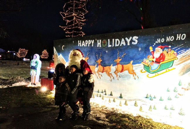 Poughkeepsie Common Councilman Chris Petsas used a portion of his allocated ward money on Wednesday night to bring Santa Claus and a new mural to the city.