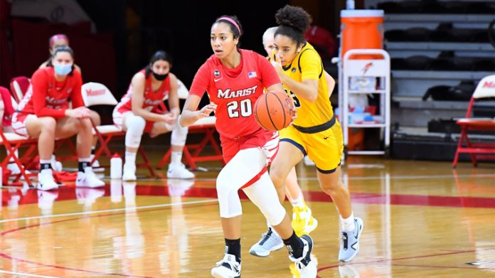 Freshman forward Zaria Demember-Shazer notched her first game in double figures as a Red Fox with 12 points and five boards.