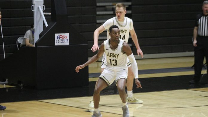 Lonnie Grayson led the Black Knights in scoring with 17 points. The senior also led the team on the boards with 7 rebounds.