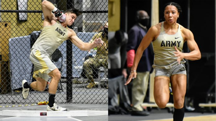 The Army men's and women's indoor track teams dominated for the second straight week as they collected the majority of victories in a meet against Villanova Saturday afternoon at Gillis Field House.