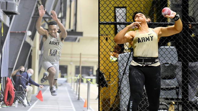 Despite a strong lead through most of the afternoon and multiple record setting performances, the Army West Point men's and women's track and field teams picked up a tough loss to Navy on Saturday.