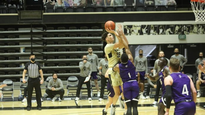The Black Knights held on to defeat visiting Holy Cross, 69-65, on Saturday afternoon at Christl Arena.