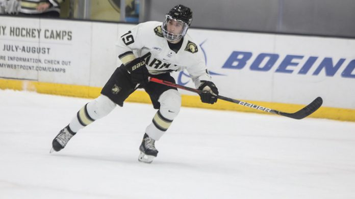 Brett Abdelnour scored two goals as the Army West Point hockey team extended its unbeaten streak to eight games with an impressive 5-1 win over Bentley on Saturday night at Tate Rink.