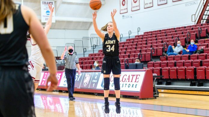 Lauren Lithgow matched her career high with 19 points, shooting 5-7 from beyond-the-arc.